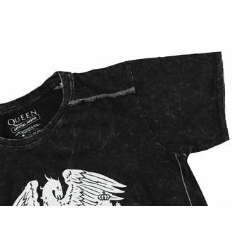 Herren T-Shirt Queen - Classic Crest Snow Wash, ROCK OFF, Queen