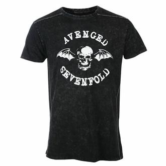 Herren T-Shirt Avenged Sevenfold - Logo - Snow Wash, ROCK OFF, Avenged Sevenfold