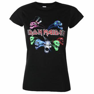 Frauen T-Shirt Iron Maiden - LOTB Live Album Skulls, ROCK OFF, Iron Maiden