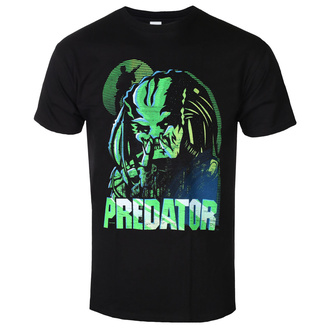 Herren T-Shirt Metal Predator - GREEN LINEAR - PLASTIC HEAD, PLASTIC HEAD, Predator