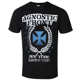 Herren T-Shirt Metal Agnostic Front - BLUE IRON CROSS - PLASTIC HEAD, PLASTIC HEAD, Agnostic Front