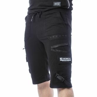 Herren Shorts CHEMICAL BLACK - ASCELIN - SCHWARZ, CHEMICAL BLACK