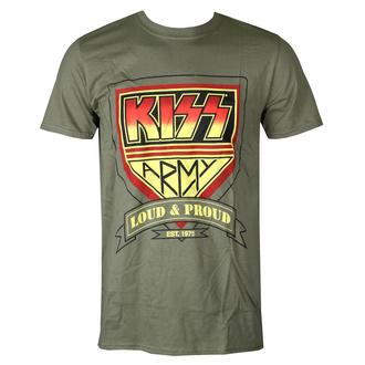 Herren T-Shirt Metal Kiss - Loud & Proud - ROCK OFF, ROCK OFF, Kiss