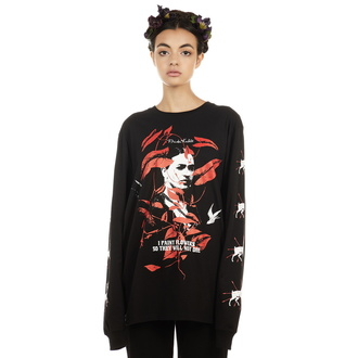 Unisex T-Shirt Hardcore - Frida Flowers - DISTURBIA, DISTURBIA