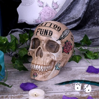 Dekoration (Geldbox) Tattoo Fund - Bone, NNM