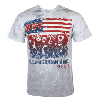 Herren T-Shirt Metal Kiss - ALL AMERICAN BAND - LIQUID BLUE, LIQUID BLUE, Kiss