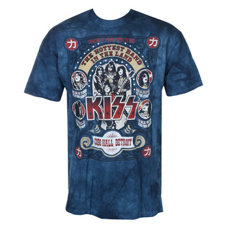 Herren T-Shirt Metal Kiss - COBO HALL - LIQUID BLUE, LIQUID BLUE, Kiss