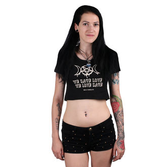 Damen Crop Top - Irrensposible hate - BELIAL, BELIAL