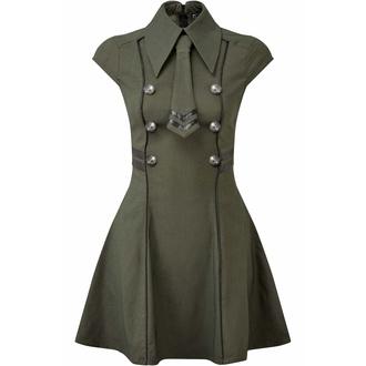 Damenkleid KILLSTAR - Black-Ops - KHAKI, KILLSTAR