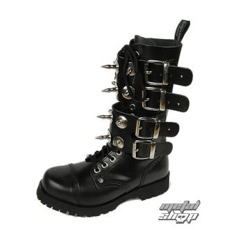 Schuhe BOOTS AND BRACES - Scare 4-buckles - SCHWARZE, BOOTS & BRACES
