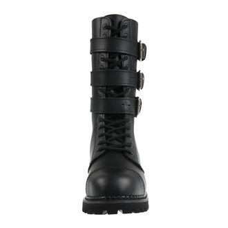 Unisex Lederstiefel - Phantom Boots with Buckle - BRANDIT, BRANDIT