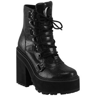 Damen Schuhe Boots KILLSTAR - Broom Rider Boots - SCHWARZ FUNKELN, KILLSTAR