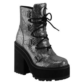 Damen Schuhe Boots KILLSTAR - Broom Rider Boots - SILBER FUNKELN, KILLSTAR
