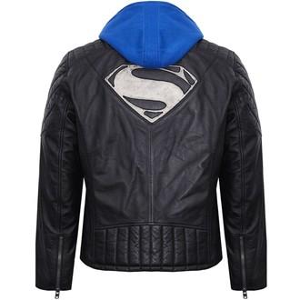 Herren Lederjacke Superman - BLACK -, NNM, Superman