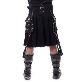 Herren Kilt CHEMICAL BLACK - CARL - SCHWARZ, CHEMICAL BLACK