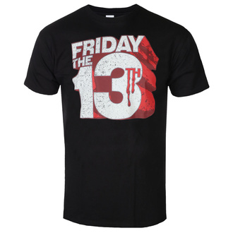 Herren T-Shirt Friday The 13th - Block Logo - Schwarz - HYBRIS, HYBRIS, Friday the 13th
