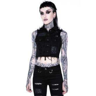 Damen Weste KILLSTAR - Come Undone Denim Vest, KILLSTAR