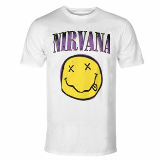 Herren T-Shirt Nirvana - Xerox Smiley Pink - ROCK OFF, ROCK OFF, Nirvana