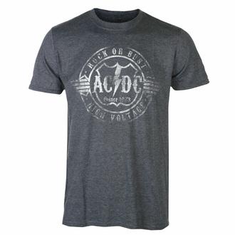 Herren T-Shirt AC/DC - Rock or Bust - HEATHER - ROCK OFF, ROCK OFF, AC-DC