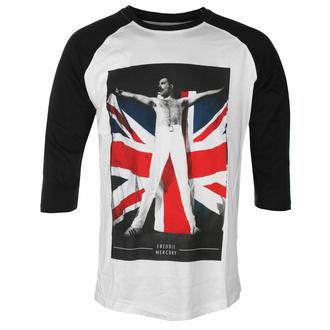 Herren T-Shirt Freddie Mercury - Flag - ROCK OFF, ROCK OFF, Queen