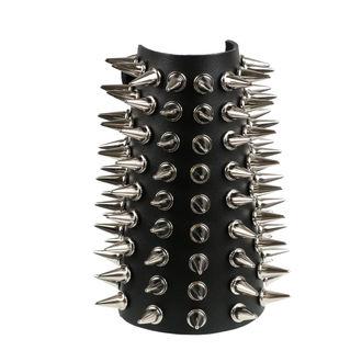 Armband Spikes 9, BLACK & METAL