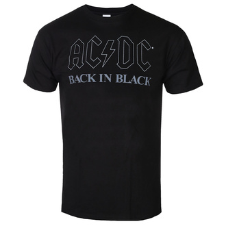 Herren T-Shirt AC / DC - Back In Black - BL - ROCK OFF, ROCK OFF, AC-DC