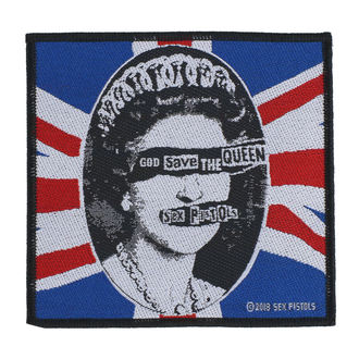Patch Aufnäher Sex Pistols - God Save The Queen - RAZAMATAZ, RAZAMATAZ, Sex Pistols