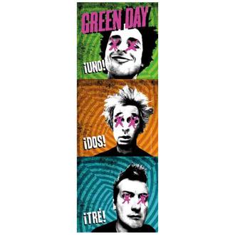 Flagge Green Day - 1-2-3, HEART ROCK, Green Day