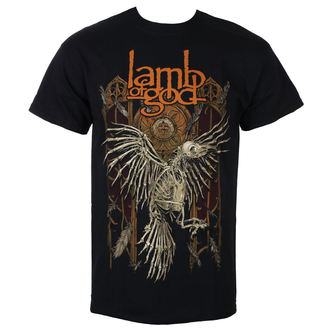 Herren T-Shirt Metal Lamb of God - Crow - ROCK OFF, ROCK OFF, Lamb of God