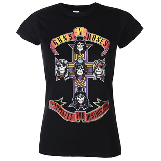 Damen T-Shirt Guns N' Roses - Appetite For Destruction - ROCK OFF, ROCK OFF, Guns N' Roses