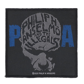 Aufnäher Patch Philip H. Anselmo & The Illegals - Face - RAZAMATAZ, RAZAMATAZ, Philip H. Anselmo & The Illegals