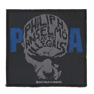 Aufnäher Patch Philip H. Anselmo & The Illegals - Face - RAZAMATAZ, RAZAMATAZ, Philip H. Anselmo & The Illegals