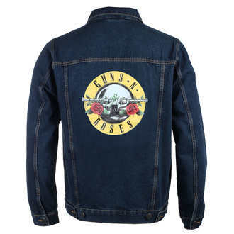 Herren Jacke Jeansjacke Guns N' Roses - Classic Logo - DENIM - ROCK OFF, ROCK OFF, Guns N' Roses