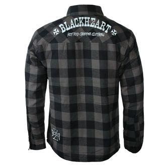 Herrenhemd BLACK HEART - DUKE LINED - GRAU, BLACK HEART