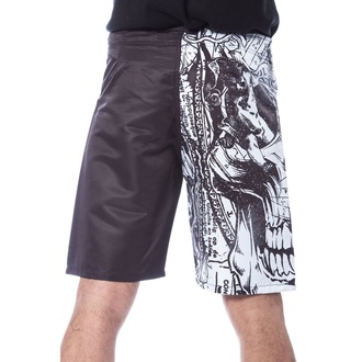 Herren Shorts Badeshorts HEARTLESS - ETERNAL - WEISS / SCHWARZ, HEARTLESS