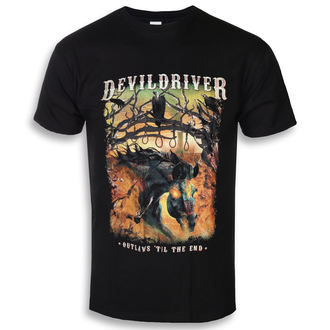 Herren T-Shirt Metal Devildriver - Outlaws Til The End - NAPALM RECORDS, NAPALM RECORDS, Devildriver