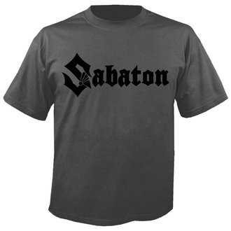 Herren T-Shirt Metal Sabaton - Logo GREY - NUCLEAR BLAST, NUCLEAR BLAST, Sabaton