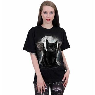 Unisex T-Shirt SPIRAL - BAT CAT - Schwarz, SPIRAL