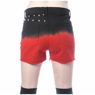 Damen Shorts VIXXSIN - GAIA - SCHWARZ/ROT, VIXXSIN