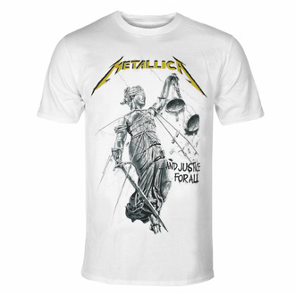 Herren T-Shirt METALLICA - AND JUSTICE FOR ALLE - WEISS - PLASTIC HEAD, PLASTIC HEAD, Metallica