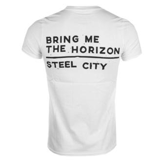 Herren T-Shirt  Bring Me The Horizon - Distorted - Wht - ROCK OFF - BMTHTS27MW