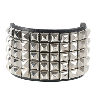 Armband Pyramiden 5, Leather & Steel Fashion