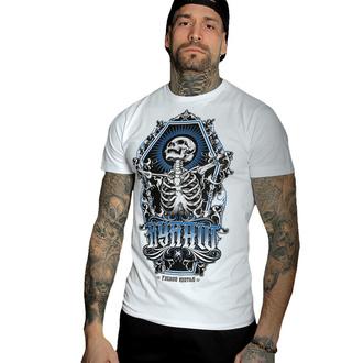 Herren T-Shirt HYRAW - Graphic - SKULL AND BONES WEISS, HYRAW
