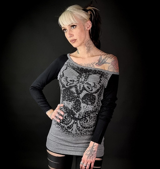 Frauen T-Shirt mit langen Ärmeln HYRAW - ORNAMEN, HYRAW
