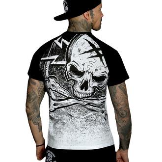 Herren T-Shirt HYRAW - Graphic - RAGLAN BLAZON - WEISS, HYRAW