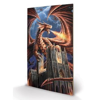 Holzbild ANNE STOKES - (Dragon's Fury), ANNE STOKES