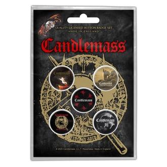 Abzeichen CANDLEMASS - THE DOOR TO DOOM, RAZAMATAZ, Candlemass