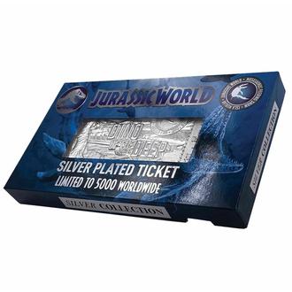 Dekoration Jurassic Welt - Replik Mosasaurus Ticket - silber plattiert, NNM, Jurassic World