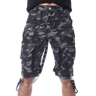 Herren Shorts POIZEN INDUSTRIES - JUSTUS - GRAU CAMO, POIZEN INDUSTRIES