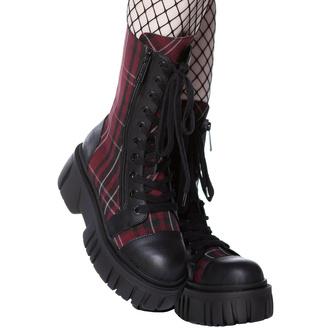 Schuhe KILLSTAR - Kick The Bucket Boots - BLOOD-TARTAN, KILLSTAR